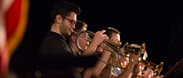 The trumpet section of the Clark College Jazz Ensemble  Photo by Andy Bao Clark College Independent