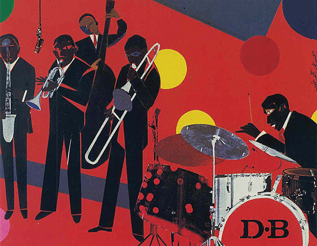 Thank You...For F.U.M.L (Funking Up My Life) 1978, Collage 15 x 18 3/8 Inches. Copyright © Romare Bearden Foundation/Licensed by VAGA at ARS, NY