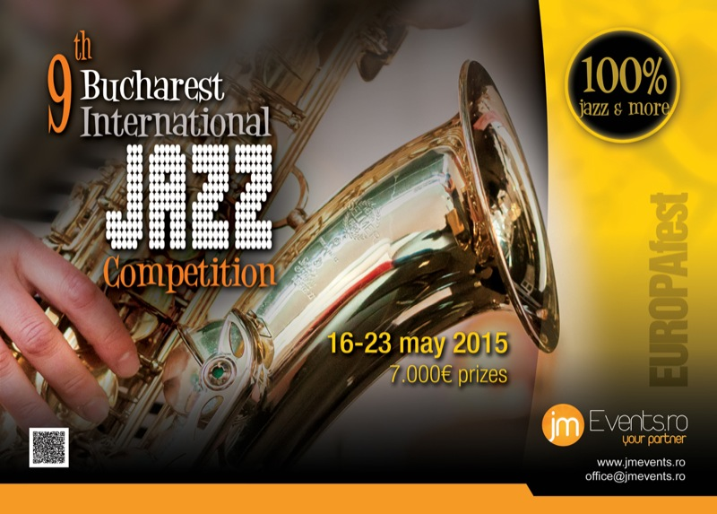 2015 Bucharest International Jazz Competition poster