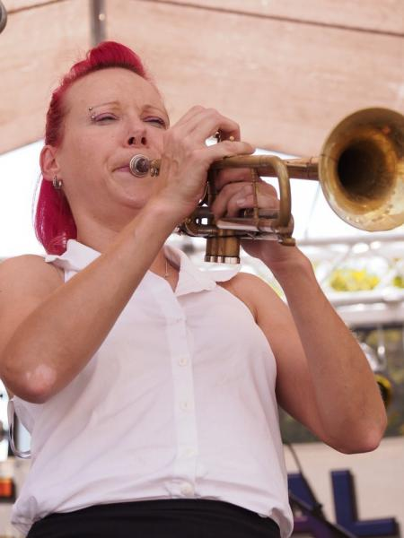 Dawn Weber wails at the 2013 Capital Jazzfest.